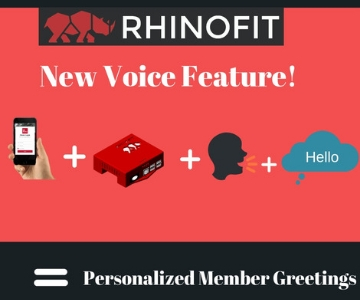 RhinoFit Voice Feature Graphic